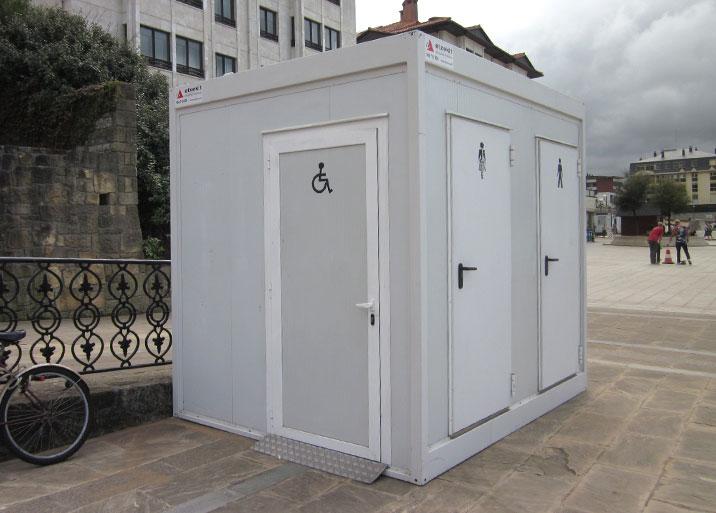 Alquiler de casetas de baños portátiles