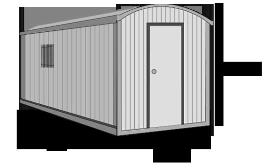 Modulo aislado etxekit etxekit soluciones modulares for Caseta chapa segunda mano