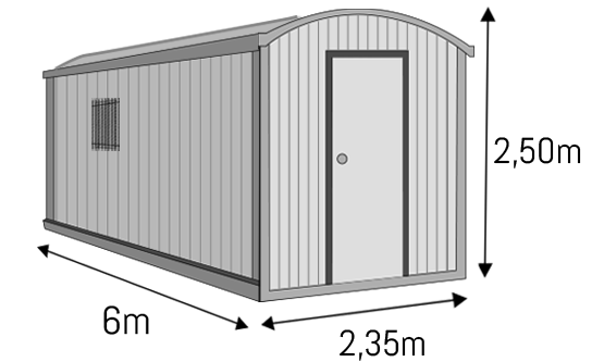 Modulo aislado etxekit etxekit soluciones modulares for Casetas para terrazas segunda mano