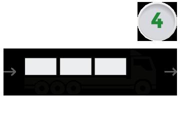 Transporte de soluciones modulares al lugar de instalación