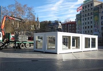 Instalación de soluciones modulares en Bilbao, Donosti y Vitoria