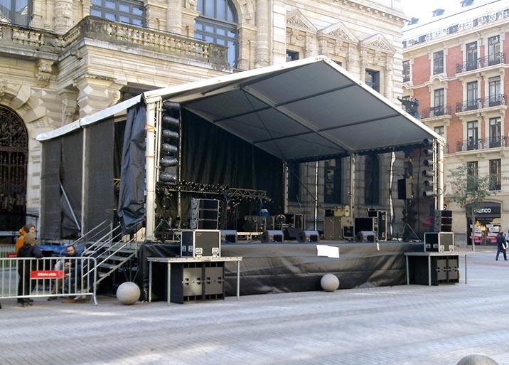 Montaje de escenario
