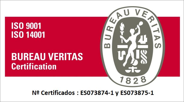 Certificación Etxekit Bureu Veritas 9001 y 14001
